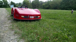 hey all you corvette guys i have a vintage 74 corvette go kart