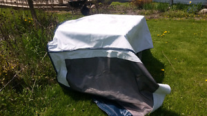 Tent ends for travel trailer.