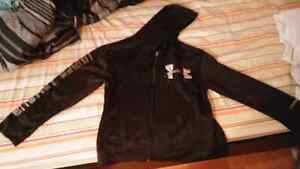 Under armor black and silver zip up