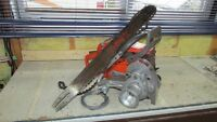 power saw &rope winch