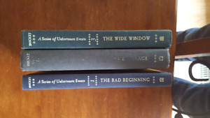 3 series of unfortunate events hard cover books