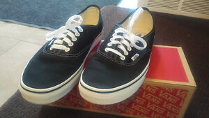 VANS AUTHENTIC ORIGINAL CLASSIC SKATE SHOES BLACK