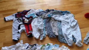 Baby boy clothes - size: 0-3 months