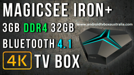 New Arrived Magicsee Iron+ Android 7.1 kodi TV Box S912 DDR4 3/32