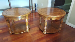 Matching Oak End Tables