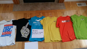 Assorted mens clothing. Hollister, Nike, Jordan, Bench..