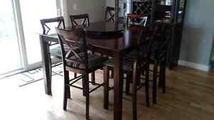 Dining table and china cabinet (will sell separately)