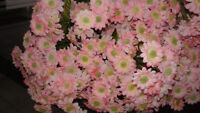 29 New Faux Minature Pink Daisies  35.00