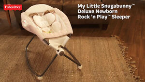 Fisher price my little snugabunny deluxe rock and play sleeper