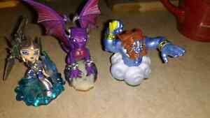 Three skylanders characters
