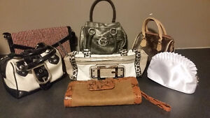Womens handbags and clutches - 7 bags $40.00
