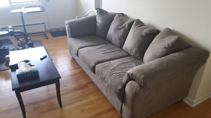 Moving sale - Bed+ night table+couch+lunch table
