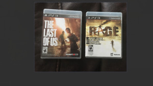 PS3 video games - The Last of Us & Rage