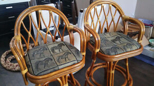WICKERLAND SOLID RATTAN BAR STOOLS(MANILA BAY)