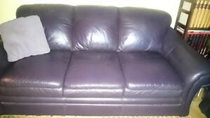 Leather Chesterfield With Pull Out Bed