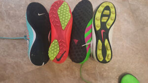 Soccer cleats - 4 pairs