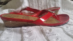 Red Flat Shoes Brand new never worn