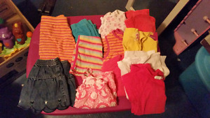 Size 2t girls summer clothes