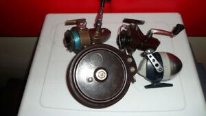 4 Vintage fishing Reels $60 All or nothing