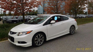 2012 Honda Civic Si Coupe. Ext warr to 200000kms, Clean Carproof