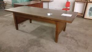 Big mahogany conference table.