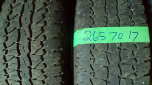 Pairs of P and LT 265 70 17 M+S tires