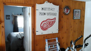Detroit Red Wings Darts Board - Great for that men cave