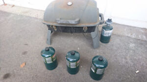 3 Coleman Propane Cylinder+ MASTER Chef Portable Gas BBQ