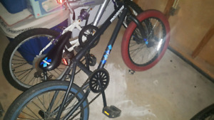 Bmx with aftermarket parts