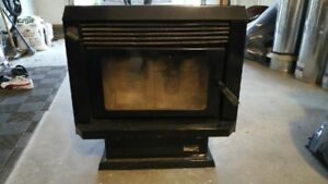 Woodstove, chimney pipe, fan, chimney sweep and extensions