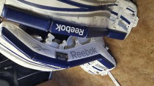 Goalie Gear. Pads 28+1  Chest protectors Skates SZ 4