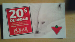 Carte rabais de $20 au spa Polar Bear club à Piedmont