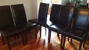 Bicast leather parsons dining chairs