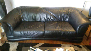 Leather couch sofa