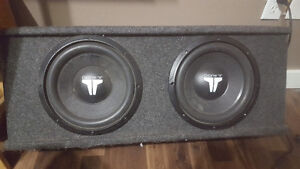 """10"""" JL Audio Subs in box with 500w JL amp"""