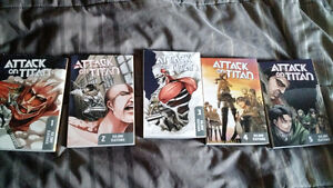 Attack on Titan Manga 1-5