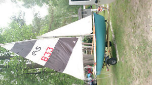 Sailboat 12 foot with jib