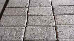 Paver patio stones in sandstone colour