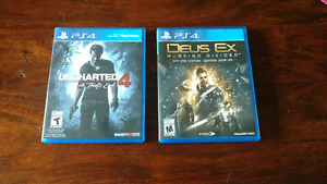 Uncharted and Deus Ex for PlayStation 4