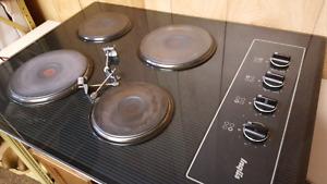 Black stove top. 22x30