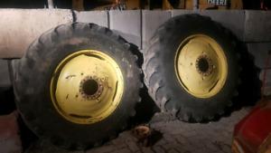 """34"""" tires on steel wheels"""