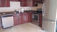Three stainless steel appliances