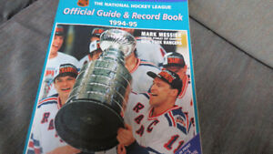 NHL guide/record book 1994-95(Messier,Rangers with cup)