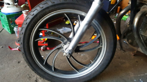 Xs400 rims with tires