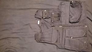 Black mesh tac vest