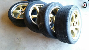 Hankook Tires on DAI GTR-05 Wheels Both in Excellent Condition