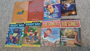 Hardy boys, flat Stanley and then it happened books