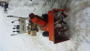 Her we have a good 8 hp snow blower