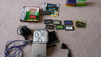 Game Boy Advance SP, accessories and games