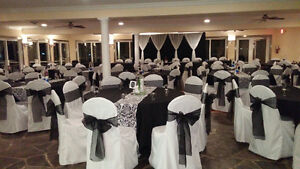 For Rent: 150 white polyester chair covers